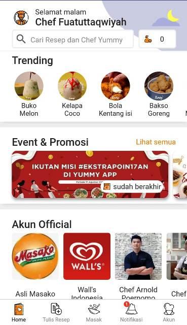 Home Yummy App